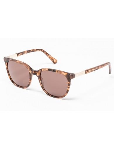 Gafa de sol Percy - Gafa de pasta marrón jaspeado y lentes marrones