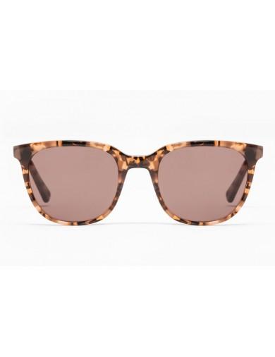 Gafa de sol Percy - Gafa de pasta marrón jaspeado y lentes marrones - Frontal
