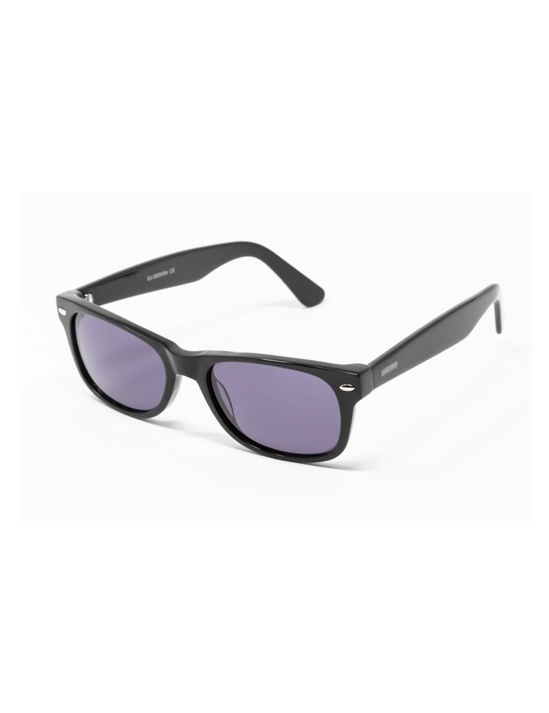 Gafa de sol Flynn - New Wayfarer - Gafa de pasta negra con lentes grises