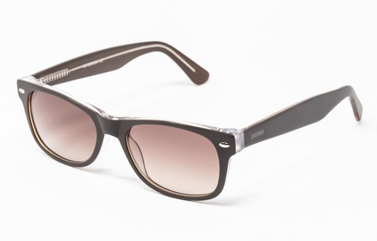 Gafa de sol Flynn - New Wayfarer - Gafa de pasta marrón con lentes marrones degradadas