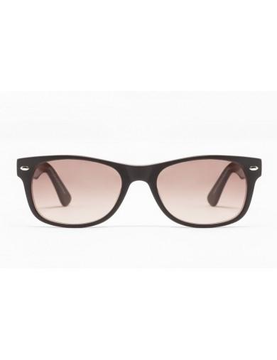 Gafa de sol Flynn - New Wayfarer - Gafa de pasta marrón con lentes marrones degradadas - Frontal