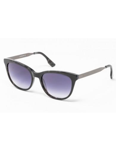 Gafa de sol Spiga - Gafa de pasta en color negro jaspeado con lentes grises degradadas