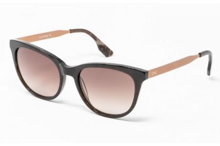 Gafa de sol Spiga - Gafa de pasta en color marrón jaspeado con lentes marrones degradadas