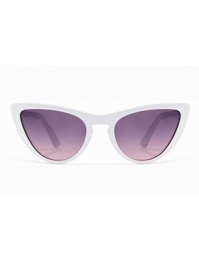 Gafa de sol Tansley - Gafa de pasta blanca con lentes grises degradadas - Frontal