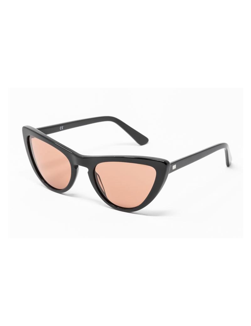 Gafa de sol Tansley - Gafa de pasta negra con lentes marrones