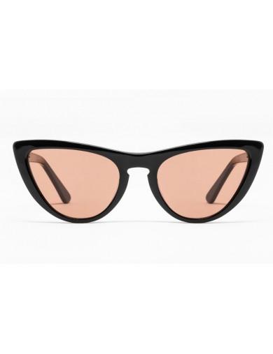Gafa de sol Tansley - Gafa de pasta negra con lentes marrones - Frontal