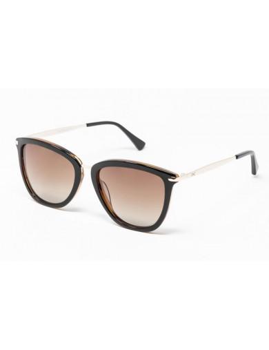 Gafa de sol Avery - Gafa de pasta con frontal marrón , varillas metálicas y lentes marrones degradadas