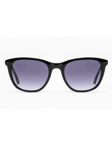 Gafa de sol Romy - Gafa de pasta negra con lentes grises degradadas - Frontal