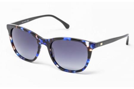 Gafa de sol Romy - Gafa de pasta azul jaspeada con lentes grises degradadas