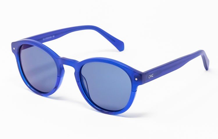 Gafa de sol Piper - Gafa de sol de pasta de color azul con lentes azules