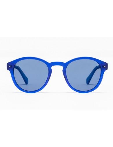Gafa de sol Piper - Gafa de sol de pasta de color azul con lentes azules - Frontal