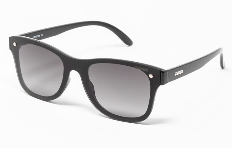 Gafa de sol Logan - Gafa de pasta negra con pantalla negra degradada