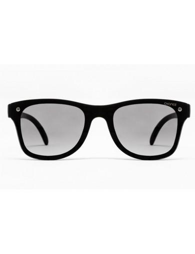 Gafa de sol Logan - Gafa de pasta negra con pantalla negra degradada - Frontal