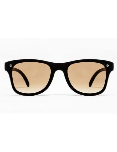 Gafa de sol Logan - Gafa de pasta marrón con pantalla marrón degradada - Frontal
