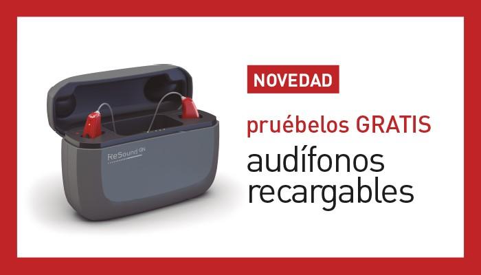 Prueba gratis nuestros nuevos audífonos recargables